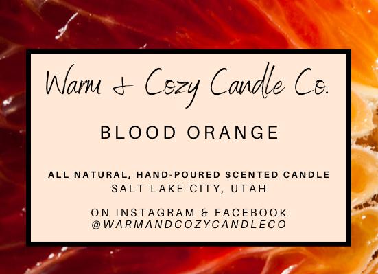 Blood Orange 100% Soy Candle