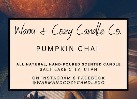 Pumpkin Chai 100% Soy Candle