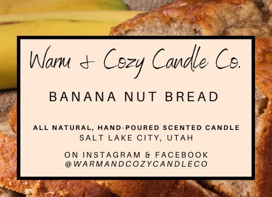 Banana Nut Bread 100% Soy Candle