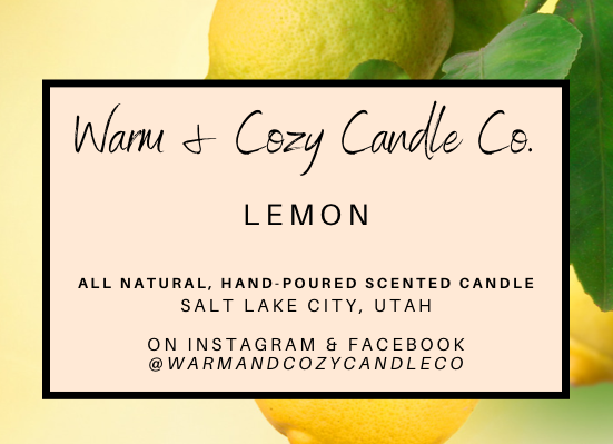 Lemon 100% Soy Candle