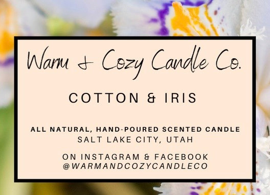 Cotton & Iris 100% Soy Candle