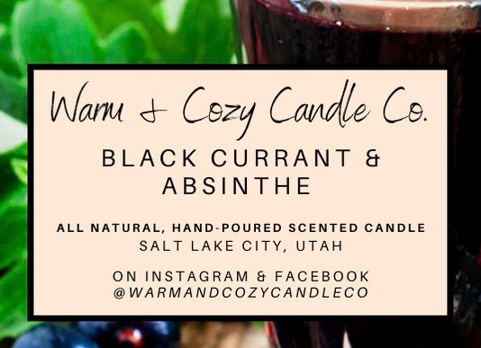 Black Currant & Absinthe 100% Soy Candle