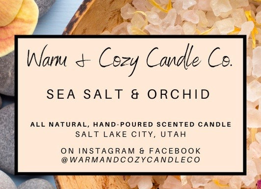 Sea Salt & Orchid 100% Soy Candle