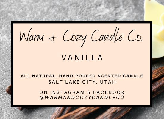 Vanilla 100% Soy Candle