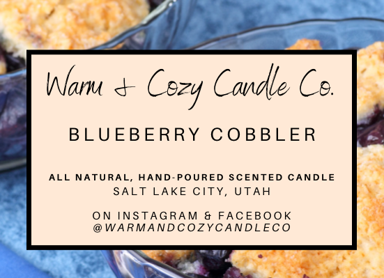 Blueberry Cobbler 100% Soy Candle