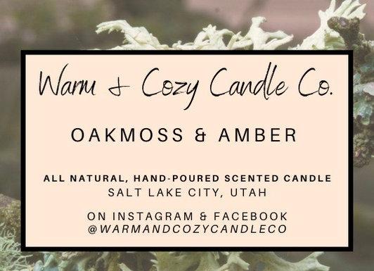 Oakmoss & Amber 100% Soy Candle
