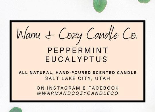 Peppermint Eucalyptus 100% Soy Candle