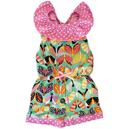 Butterfly Polka Dot Romper Jumpsuit