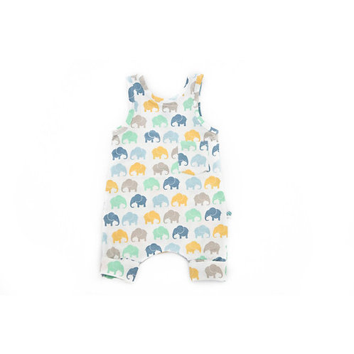 Blue Elephants Romper