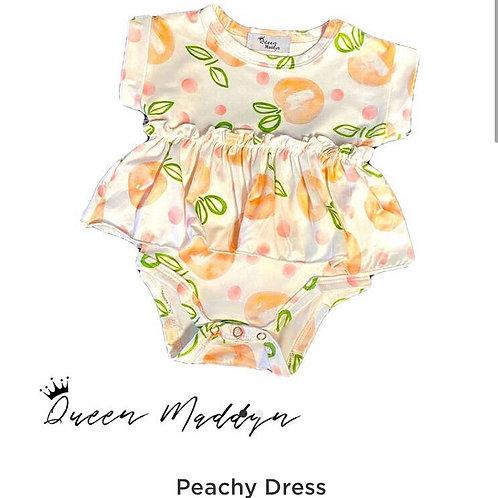 Peachy Romper Twirl Dress