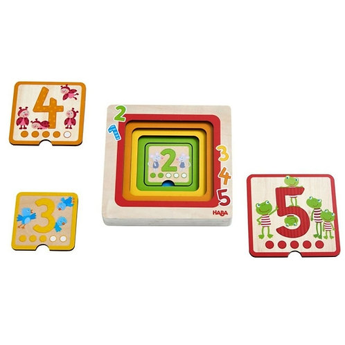 Counting Friends Wood Layering Puzzle