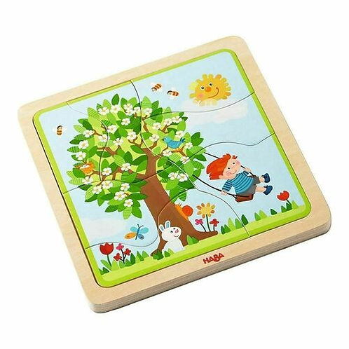 4 in 1 My Time of the Year Wooden Puzzle