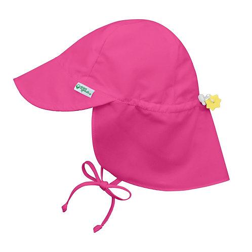 Hot Pink Flap Swim Sun Hat 1 in stock 2t-4t