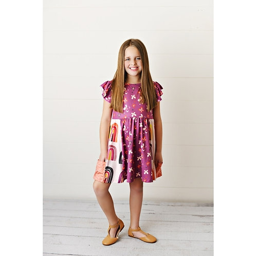 Rainbow Flowers Dress