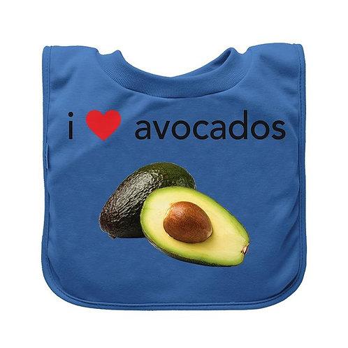 I Love Avocados Bib