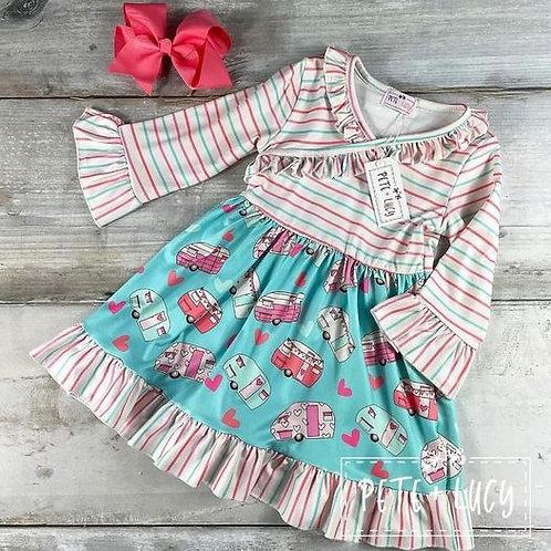 Happy Camper Dress  (size 7/8)
