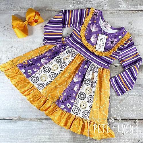 Purple Swirl Dress  (size 2t)