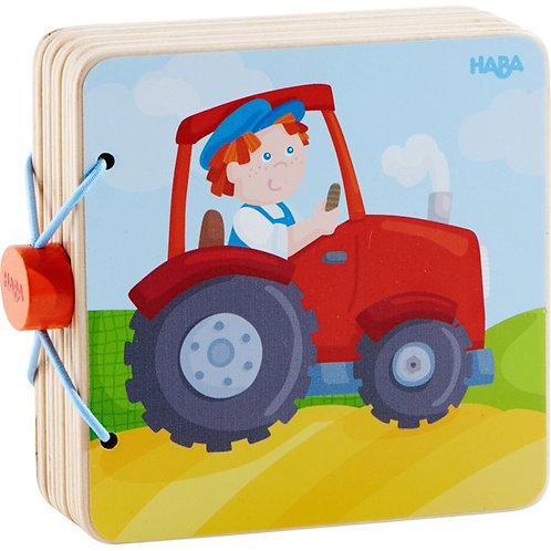Wooden Baby Tractor Book