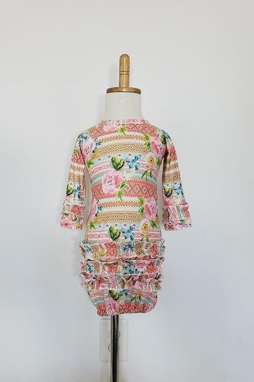 Floral Aztec Baby Gown