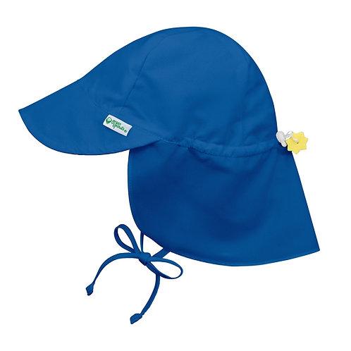 Blue Flap Swim Sun Hat