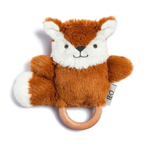 Fox Wooden Baby Teether