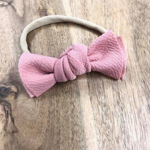 Pink Floral Messy Bow Headband
