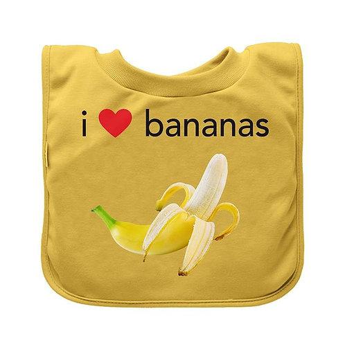 I Love Bananas Bib