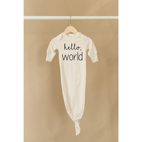 Hello World Organic Baby Knot Gown