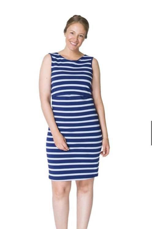 Megan Nursing Dress-blue