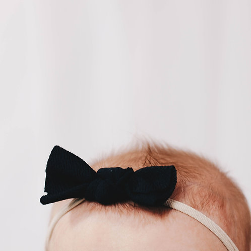 Black Messy Bow Headband
