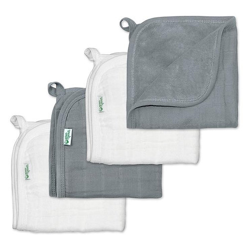 Muslin Wash Cloths made from organic cotton- 4 pack