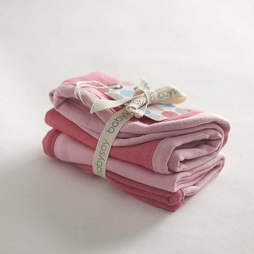 Blossom Babysoy Basic Burp Cloth Set