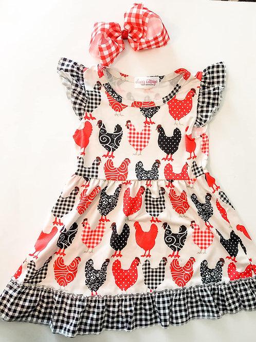 Gingham Chicken Dress