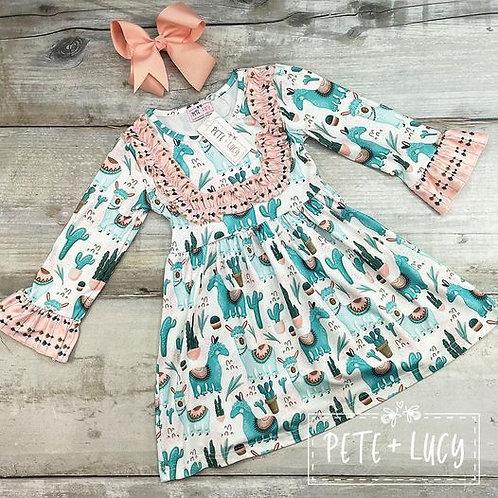 Desert Llama Dress (size 10/12)