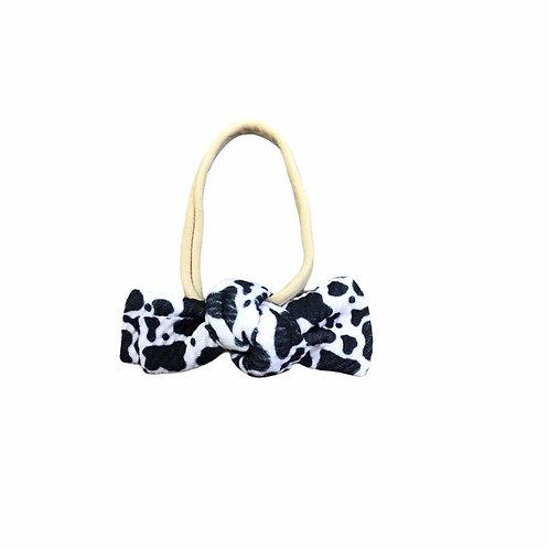 Cow Messy Bow Headband