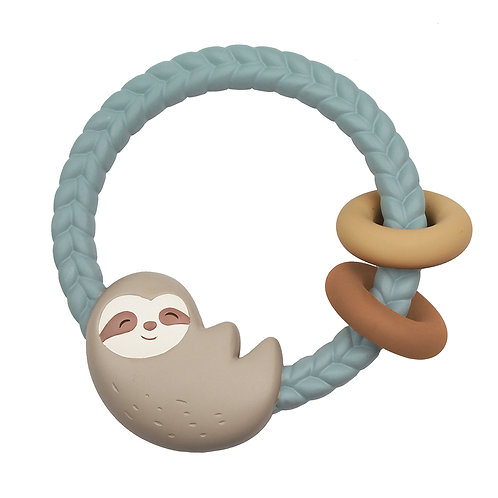 Ritzy Sloth Silicone Rattle Teether