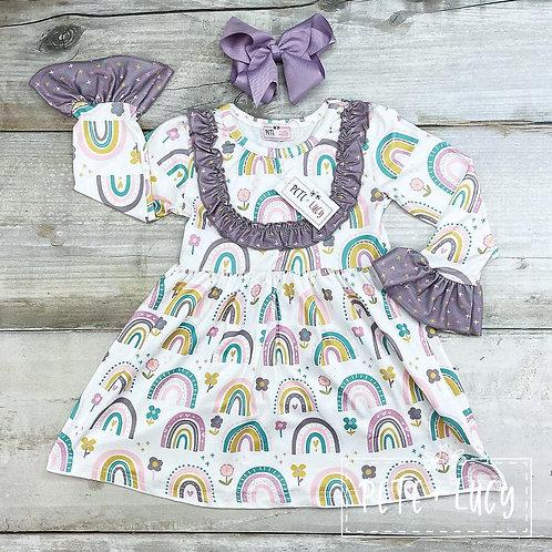 Ruffles & Rainbows Dress (size 5)