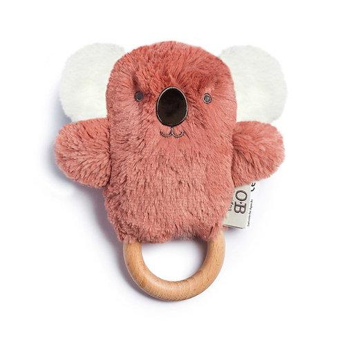 Pink Koala Wooden Baby Teether