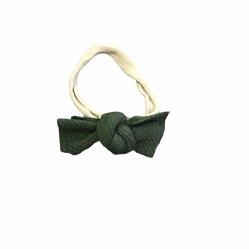 Olive Green Messy Bow Headband