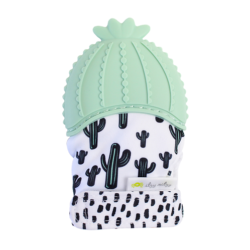 Itzy Mitt Silicone Teething Mitt- Cactus
