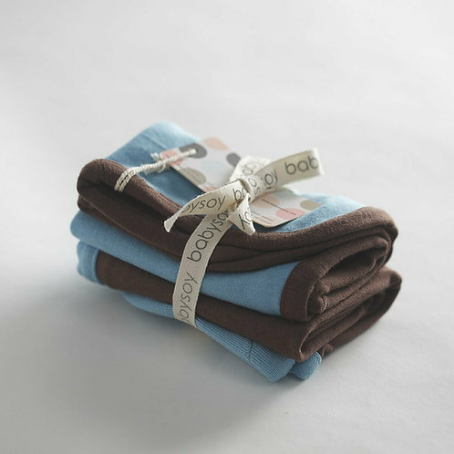 Ocean Babysoy Basic Burp Cloth Set