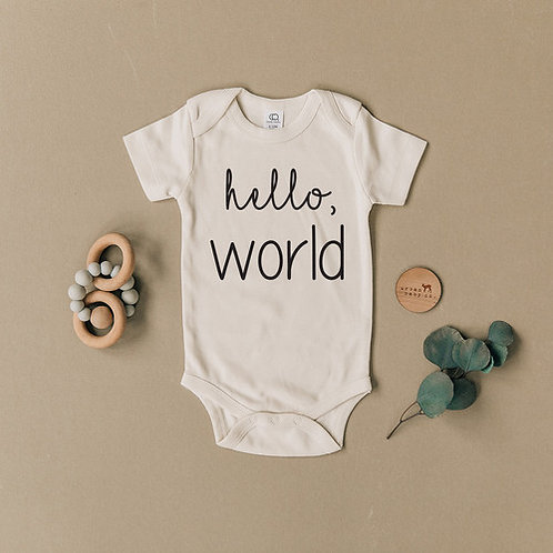 Hello World Organic Body Suit