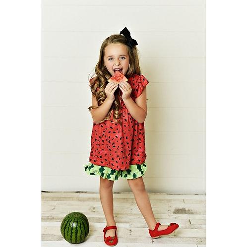 Red Watermelon Short Set