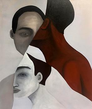Ma vie fragmentee (2019) - Oil on linen,