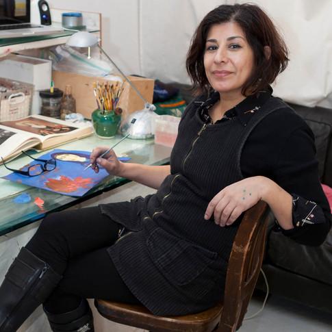 Studio Visit with SAMIRA ABBASSY