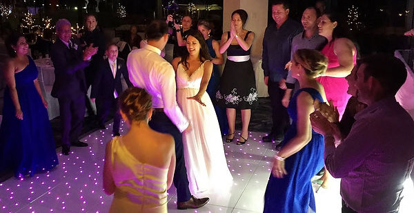 First dance together at their weddng
