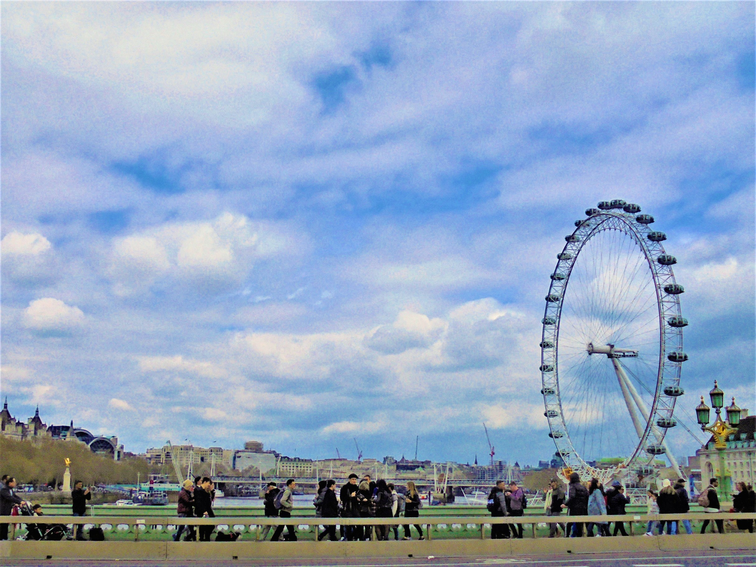 River Thames and the London Eye from Westminster Bridge, Westminster, London