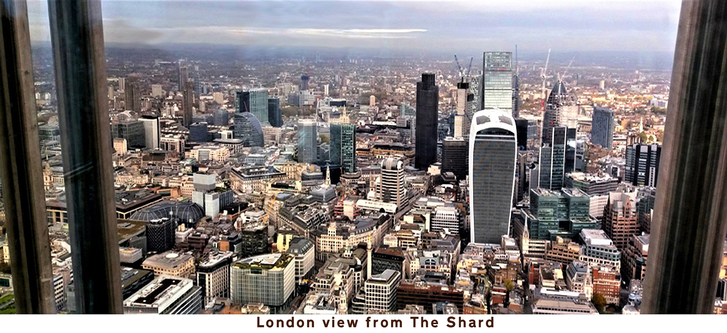 Postcard: London view from The Shard (north)