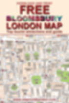 London Bloomsbury map and guide free