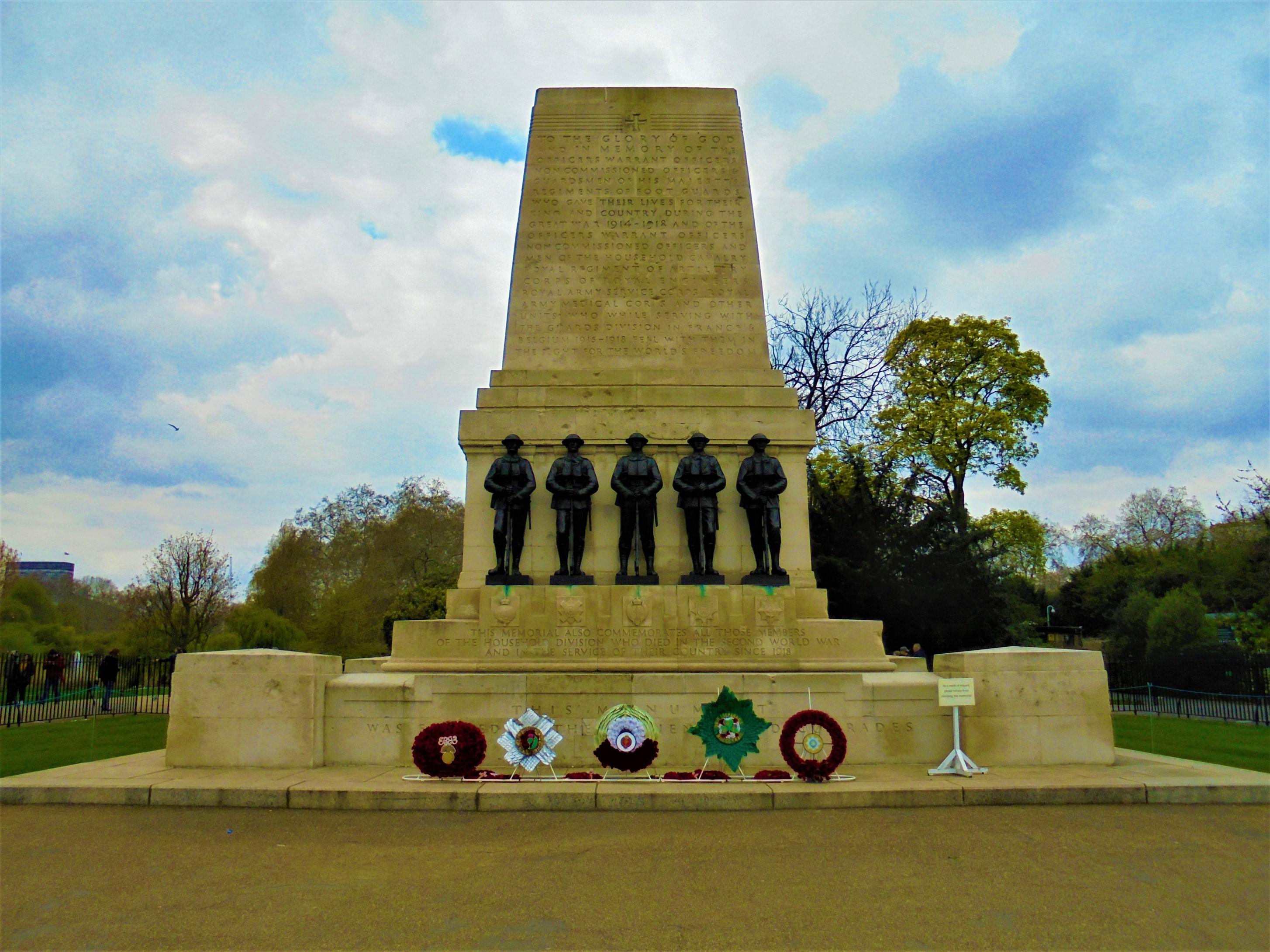 Guards Memorial, Horse Guards Road, Westminster London